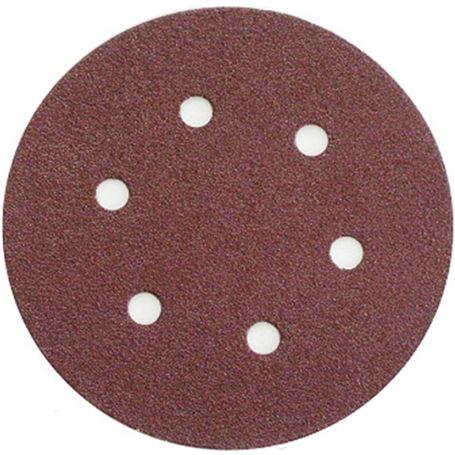Discos-de-lija-con-soporte-velcro-en-150-mm-6-perforaciones-grano-220-Debray-1
