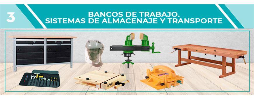 BANCOS DE TRABAJO. SISTEMAS DE ALMACENAJE Y TRANSPORTE | Comercial Pazos