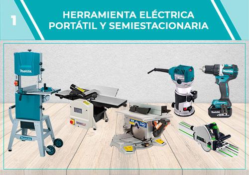 Herramientas eléctrica portátil y semiestacionaria
