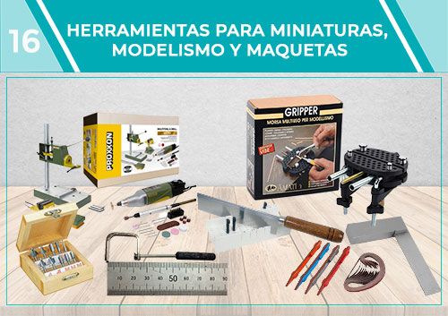 Herramientas para miniaturas, modelismo y maquetas