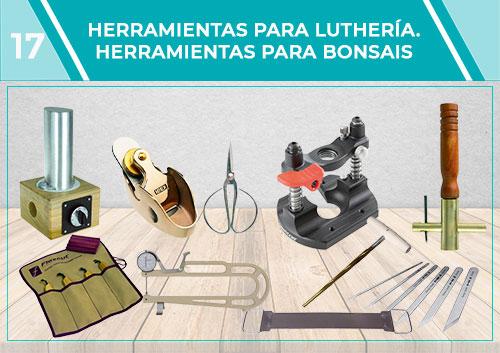Herramientas para luthería- cuchillos. Herramientas para bonsais linternas y para inspección