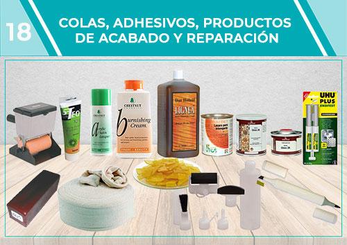 Colas adhesivos, productos de acabado y reparación