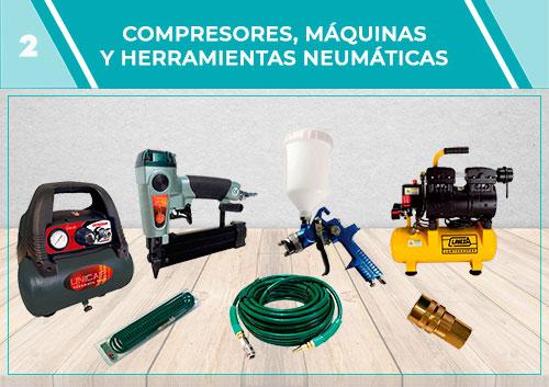 Compresoras, máquinas y herramientas neumáticas