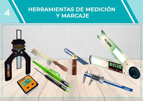 Herramientas de medición y marcaje