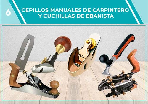 Cepillos manuales de carpintero y cuchillas de ebanista